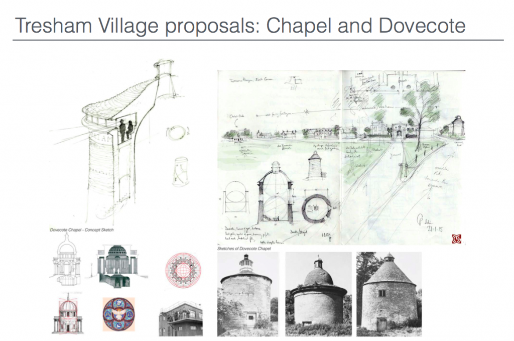 Tresham Village Proposals: Chapel and Dovecote