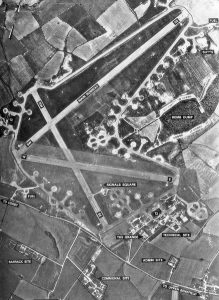 Deenethorpe Airfield from the Air