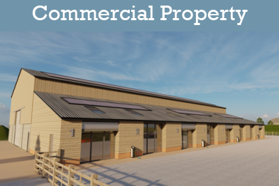 Redeveloped farm building on the Deene Park Estate available for commercial rent