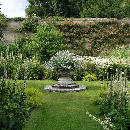 The White Garden at Deene Park